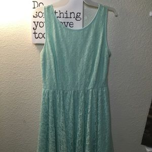 F21 Turquoise lace dress